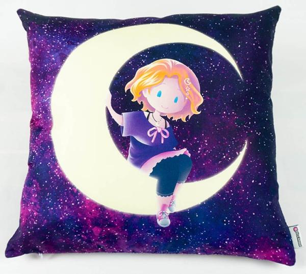#plüschmond - Kissenhülle Mond